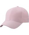 6 panel baseball cap licht roze
