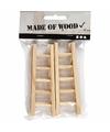 6 stuks houten mini laddertjes 10 cm