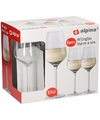 6 stuks wijnglazen voor witte wijn 370 ml