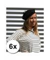 6 voordelige franse baretten zwart