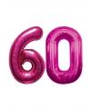 60 jaar folie ballonnen roze