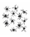 7 zwarte decoratie spinnetjes 8 cm