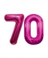 70 jaar folie ballonnen roze