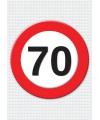 70 jaar verkeersbord mega deurposter