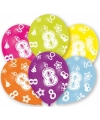 8 jaar leeftijd ballonnen 6 stuks