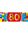 80 jaar sticker