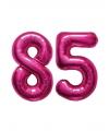 85 jaar folie ballonnen roze