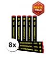 8x voordelige bengaalse fakkels geel