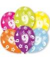 9 jaar leeftijd ballonnen 6 stuks