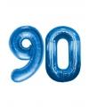 90 jaar folie ballonnen blauw