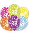 90 jaar leeftijd ballonnen 6 stuks