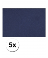 A4 hobby karton blauw 5 stuks