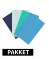 A4 hobby karton blauw tinten 4 stuks
