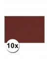 A4 hobby karton bordeaux rood 10 stuks