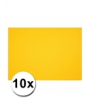 A4 hobby karton geel 10 stuks
