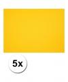 A4 hobby karton geel 5 stuks