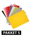 A4 hobby karton gekleurd 18 stuks