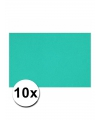 A4 hobby karton oceaan blauw 10 stuks