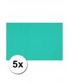 A4 hobby karton oceaan blauw 5 stuks