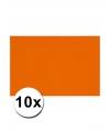 A4 hobby karton oranje 10 stuks