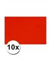 A4 hobby karton rood 10 stuks