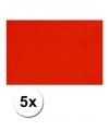 A4 hobby karton rood 5 stuks