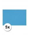 A4 hobby karton turquoise blauw 5 stuks
