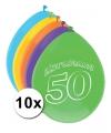 Abraham ballonnen 50 jaar 10 stuks