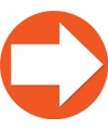 Accent pijl sticker oranje