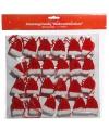 Adventskalender slinger met kerstmutsjes 180 cm