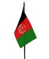 Afghanistan mini vlaggetje op stok 10 x 15 cm
