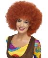 Afro damespruik roodbruin