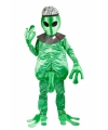 Alien man kostuum groen