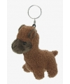 Alpaca sleutelhanger 12 cm bruin