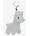 Alpaca sleutelhanger 12 cm wit
