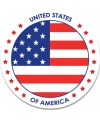 Amerika sticker rond 14 8 cm