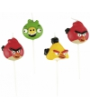 Angry birds mini kaarsjes 4 stuks