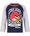 Angry birds t shirt blauw grijs voor jongens