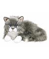 Anna club pluche grijze ragdoll kat poes knuffel liggend 25 cm