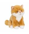 Anna club pluche rode kat poes knuffel zittend 15 cm