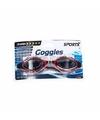 Anti chloor zwembril zwart rood voor volwassenen