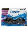 Anti chloor zwembril zwart voor volwassenen