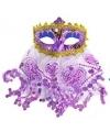 Arabisch oogmasker paars