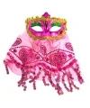 Arabisch oogmasker roze