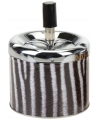 Asbak met zebraprint 12 cm