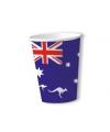Australie wegwerp bekers 8 stuks