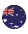 Australie wegwerp bordjes 8 stuks