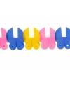 Baby slinger met gekleurde wiegjes