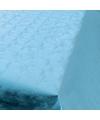 Babyblauw papieren tafelkleed op rol