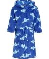 Badjas met haaien blauw voor kinderen